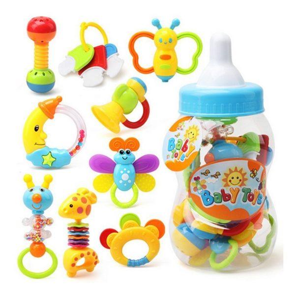 9 sonajeros y mordedores para bebés