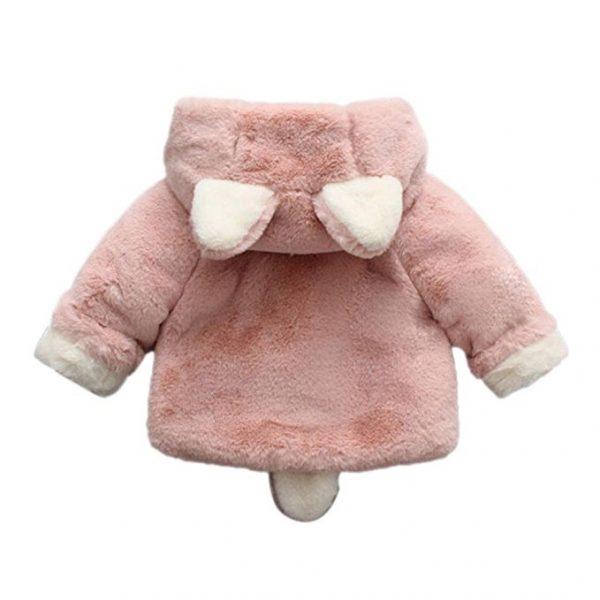 Abrigo con capucha orejas de conejito_1