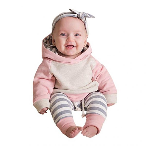 Conjunto para bebé niña con diadema incluida