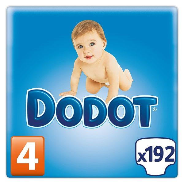 Dodot - Pañales para bebés, talla 4 (9-15 kg), 192 pañales