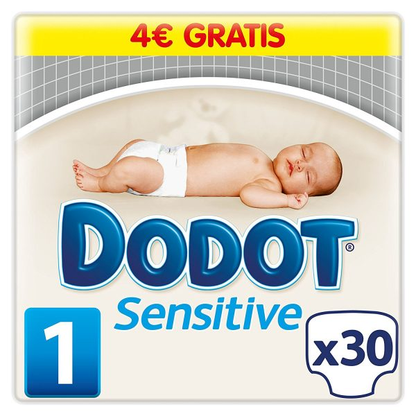 Dodot Sensitive - Pañales para bebés, talla 1 (2-5 kg), 30 pañales