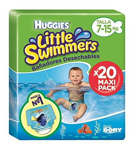 Huggies Little Swimmers - Pañales para piscina, talla 3 - 4 (7-15 kg)