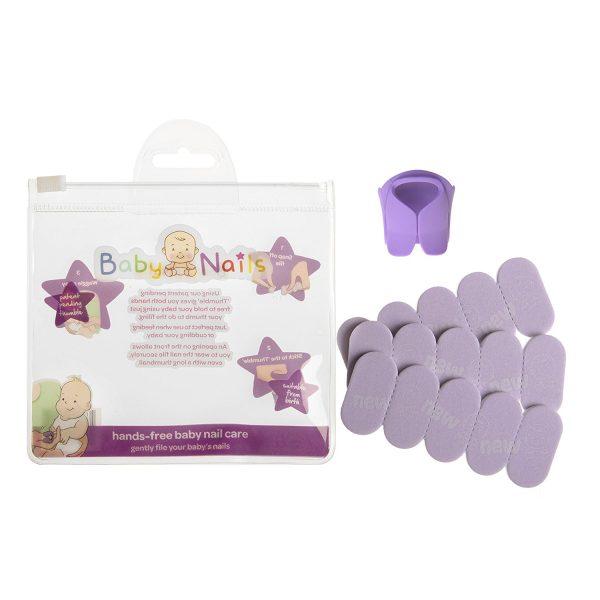 Lima de uñas para recién nacidos