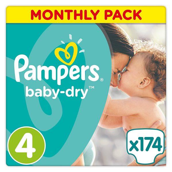 Pampers Baby Dry - Pañales para bebés, Talla 4 (8-16kg)