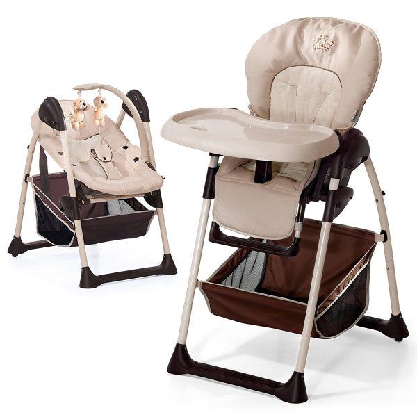 Trona convertible en mecedora para bebé