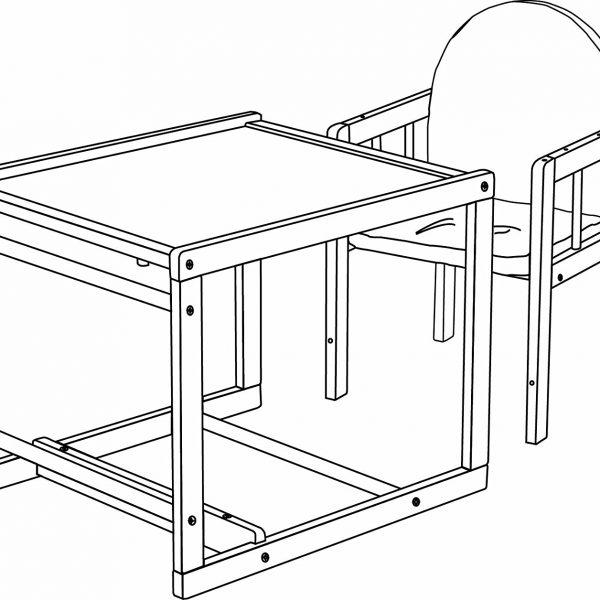 Trona convertible en silla y mesa_1
