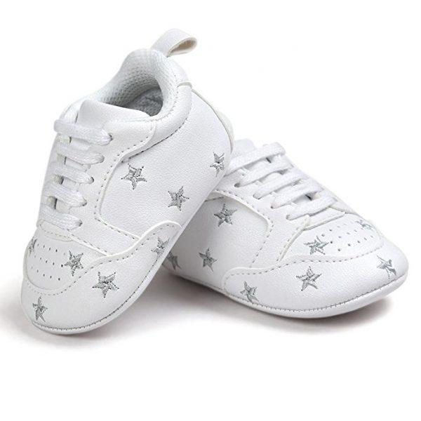 zapatillas para bebés color blanco