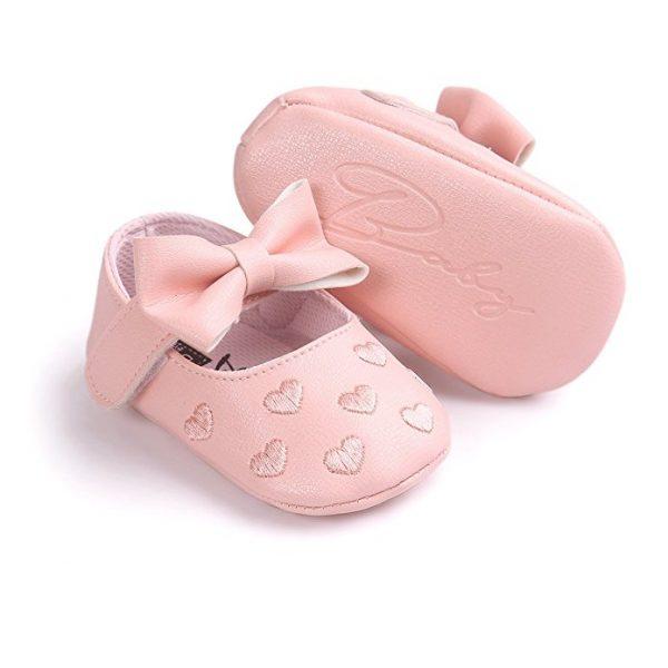 zapatitos para bebés color rosa