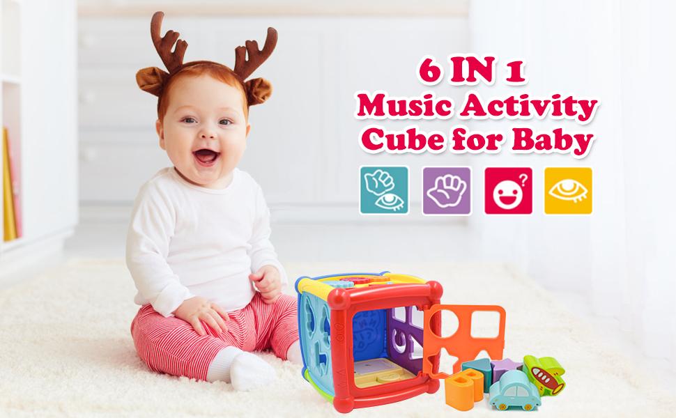 6 in 1 Cubo de actividad musical para bebé
